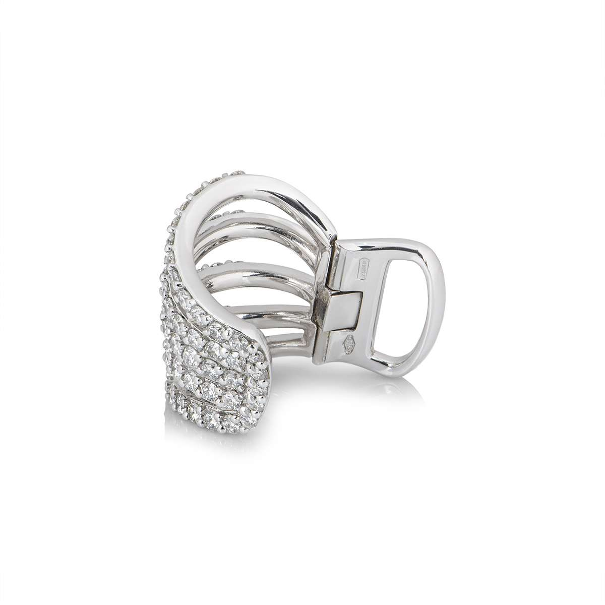 White Gold Diamond Ear Cuff
